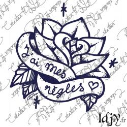 Rose Tattoo (thermocollant)