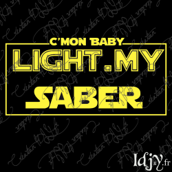 Baby Light my Saber (iron-on)