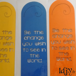 "Bookmark ""Be the change"""